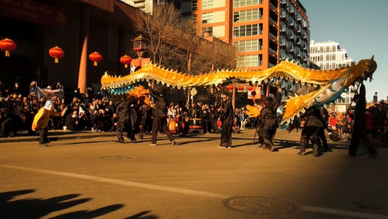 Calgarians gathered in Chinatown Saturday for the opening of the Lunar New Year Festival.