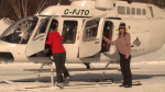 """It's not just the helicopter ride itself; it's the scenery, and what you're getting to,"" says Breton Air CEO, Parker Horton. ""The gondola system will be put in place soon.  So right now, this is the quickest way to get to the top of the hill."""