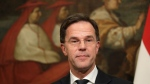 Prime Minister of Netherlands Mark Rutte holds a joint press conference with Italian Premier Giuseppe Conte after their meeting at Palazzo Chigi government's office, in Rome, Wednesday, Jan. 15, 2020. (AP Photo/Andrew Medichini)