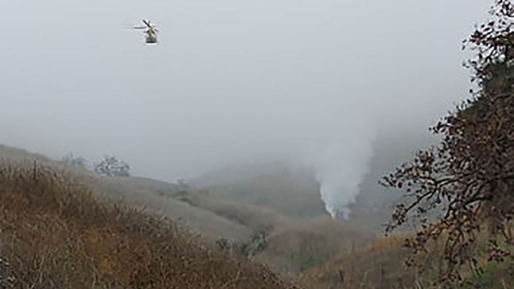 Five killed in helicopter crash in Calabasas, Calif.