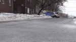 Greater Sudbury police are in the city's Donovan neighbourhood (Alana Everson/CTV Northern Ontario)