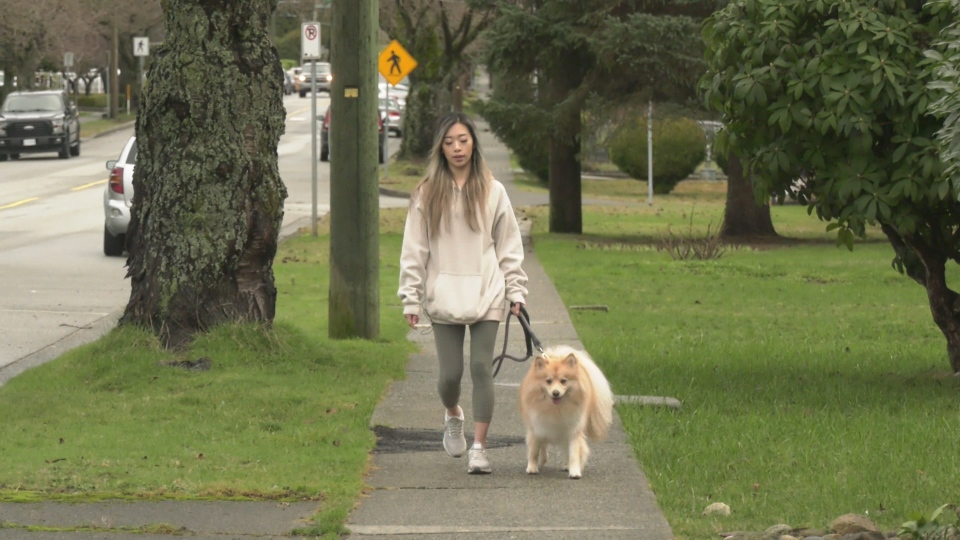 Tiffany Yee was fearful for her life when a walk with her dog turned into a scary encounter with a taxi driver. (CTV)