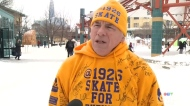 Man skates 19 hours straight at The Forks