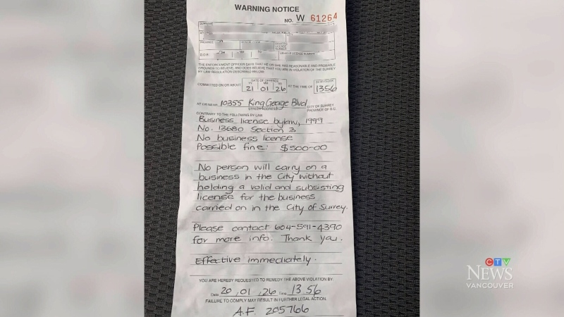 Uber driver says he was ticketed in Surrey