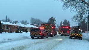 House fire on 157 Street