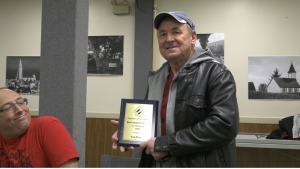 Jack Bennett makes the 'Best Spaghetti Sauce in Timmins'.  He earned the title for the second year in a row at the 8th Annual Wayne Buttineau Pasta Sauce Contest, hosted by the Kinsmen Club of Timmins.  (Lydia Chubak/CTV Northern Ontario)