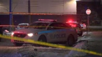 Halifax Regional Police respond to a stabbing on Bilby Street in January 2020.