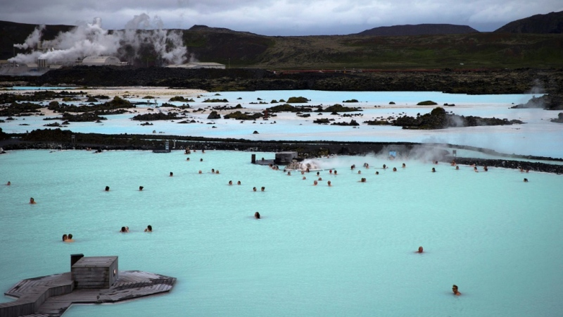 "For nearly a week, a series of earthquakes have been shaking the area around Grindavik, not far from the steaming waters of the ""Blue Lagoon,"" a popular geothermal spa in southwestern Iceland on the Reykjanes Peninsula. (AFP)"