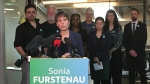 Cowichan Valley MLA and deputy party leader Sonia Fustenau announced her intention to run for the B.C. Green leadership in Victoria in January. (CTV News)