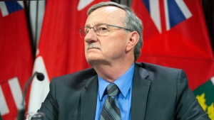 Dr. David Williams, Chief Medical Officer of Health for Ontario, attends a news conference in Toronto, on Monday, January 27, 2020, as officials provide an update on the coronavirus in Canada. THE CANADIAN PRESS/Chris Young