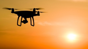 A drone with a camera is seen in this file photo.
