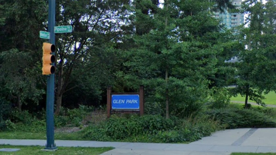 The entrance to Glen Park in Coquitlam, B.C. is seen in this undated Google Maps image.