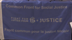 Common Front for Social Justice panel