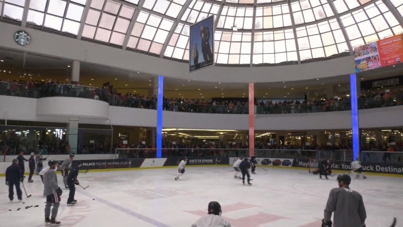 Oilers practice, West Edmonton Mall, Jan 27 2020