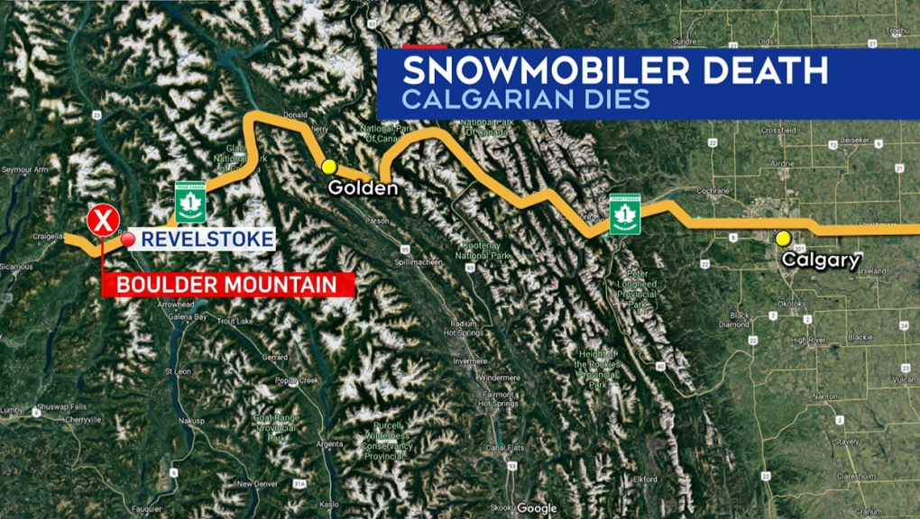 Boulder Mountain, Revelstoke, snowmobiling, death