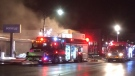 Crews work to contain a million-dollar fire at Sporting Life in Collingwood January 28, 2020 (Dave Erskine / CTV News)