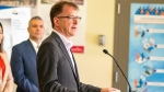 B.C.'s health minister, Adrian Dix, speaking at an event in July, 2019. (Province of British Columbia/Flickr)