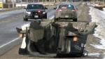 Salt truck crash closes part of Hwy. 7