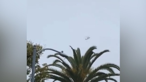 Helicopter filmed circling over Glendale