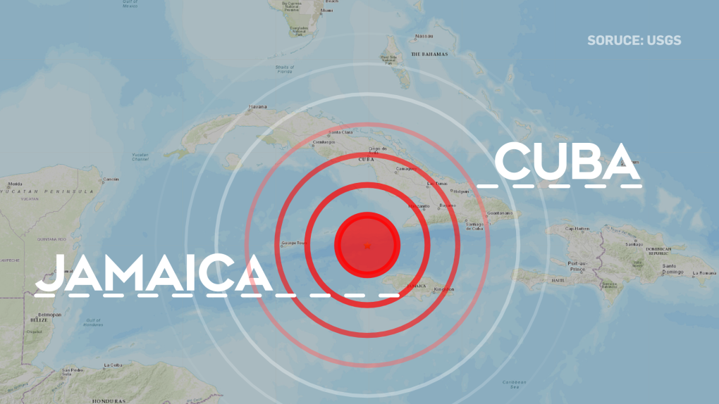 Strong quake hits between Cuba and Jamaica