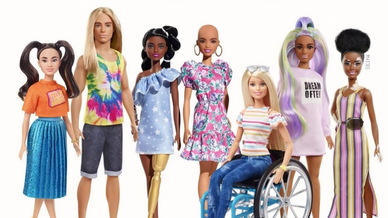 New Barbies feature skin conditions and prosthetic