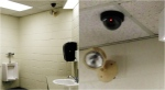 A fake camera, seen in the photos above, was installed at an elementary school in Newmarket, Ont. (Supplied)