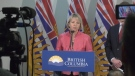 B.C.'s provincial health officer Dr. Bonnie Henry is seen at a news conference at the B.C. Centre for Disease Control on Jan. 28, 2020.