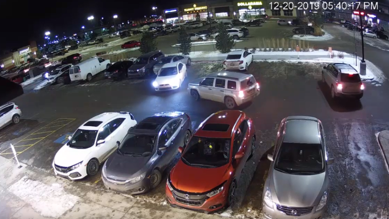 Security video of hit-and-run in south Edmonton. (Source: Edmonton police)