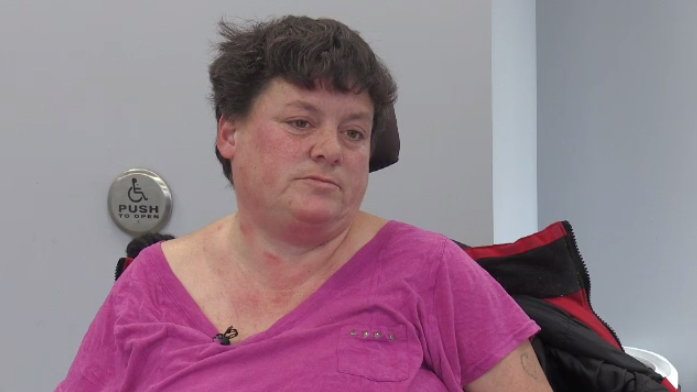 Mary Comeau says that, as a cancer patient in a wheelchair, she's had to miss appointments.