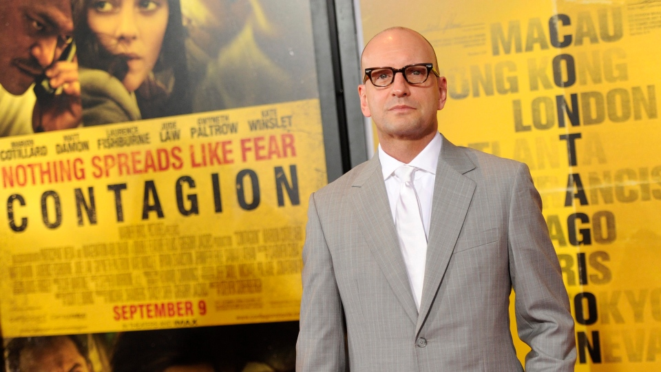 Director Steven Soderbergh attends the premiere of 'Contagion' at Jazz at Lincoln Center on Wednesday, Sept. 7, 2011 in New York. (AP Photo/Evan Agostini)
