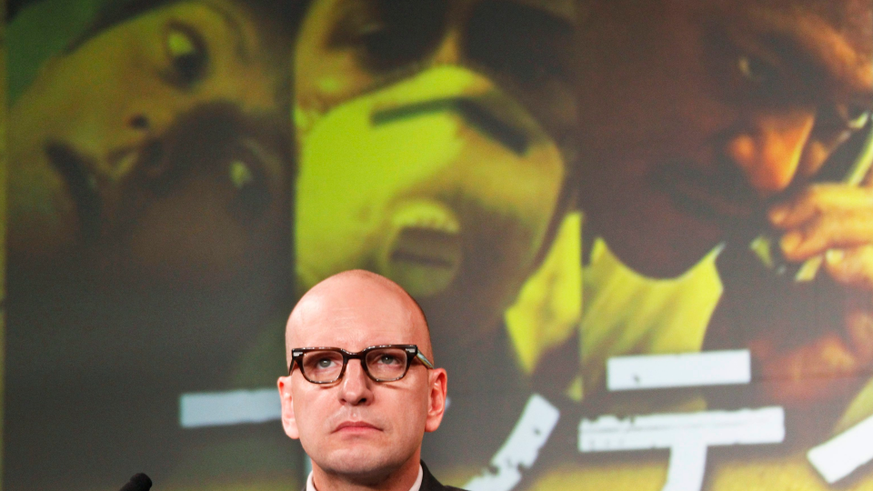 Film director Steven Soderbergh attends a press conference for his latest film 'Contagion' in Tokyo, Thursday, Nov. 10, 2011. (AP Photo/Koji Sasahara)