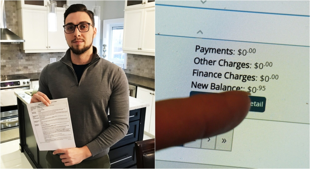 Old credit card bill for 95 cents ruins Ontario man's credit rating