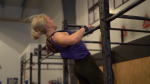 Polina Bespalova training at Reebok Crossfit 306 following her victory. (Laura Woodward/CTV News)