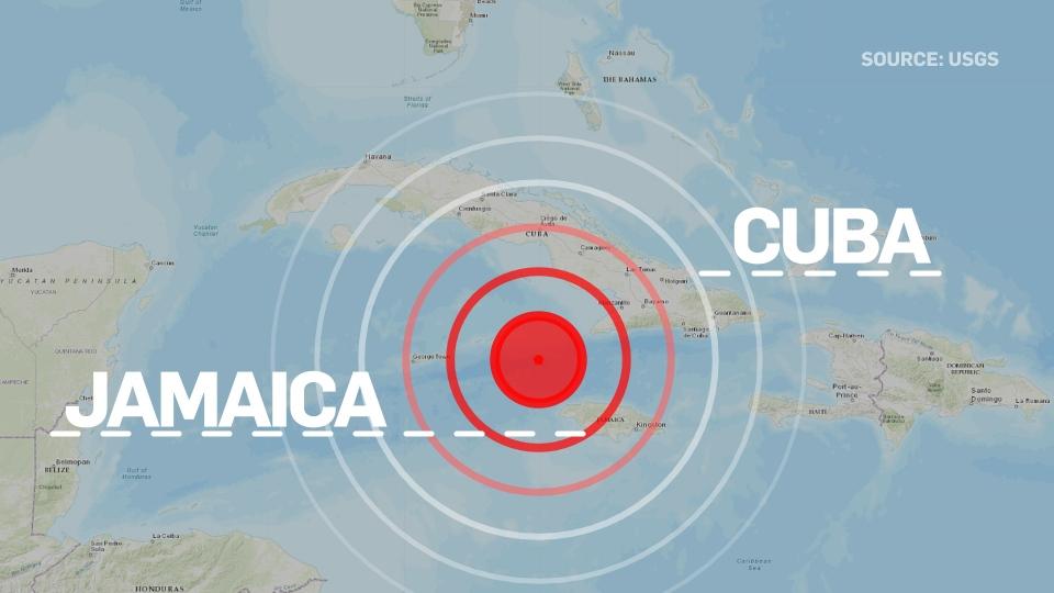 Earthquake between Cuba and Jamaica