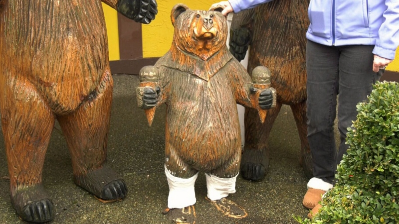 Stolen Chemainus bear statue returned with apology