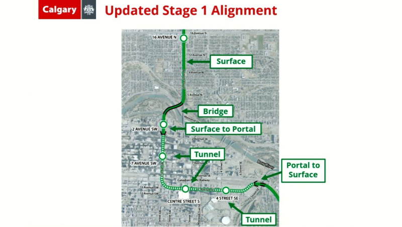 Updated Green Line alignment
