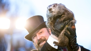 PETA is calling on the Punxsutawney Groundhog Club to let Phil retire -- and to be replaced by an animatronic groundhog. (Brett Carlsen/Getty Images/CNN)