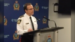Winnipeg Police Chief Danny Smyth addresses a number of criminal charges laid against police officer by the Independent Investigation Unit of Manitoba on Jan. 29,2020. (Source: Gary Robson/ CTV News Winnipeg)