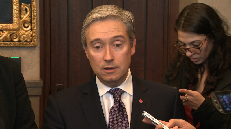 Foreign Affairs Minister Francois-Philippe Champagne announces that the government is taking steps to fly Canadians out of Wuhan, China.