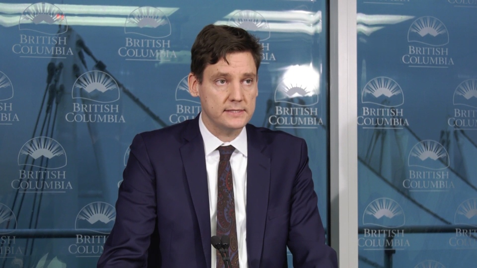 B.C. Attorney General David Eby speaks to reporters about new measures designed to improve transparency and accountability at ICBC on Wednesday, Jan. 29, 2020.