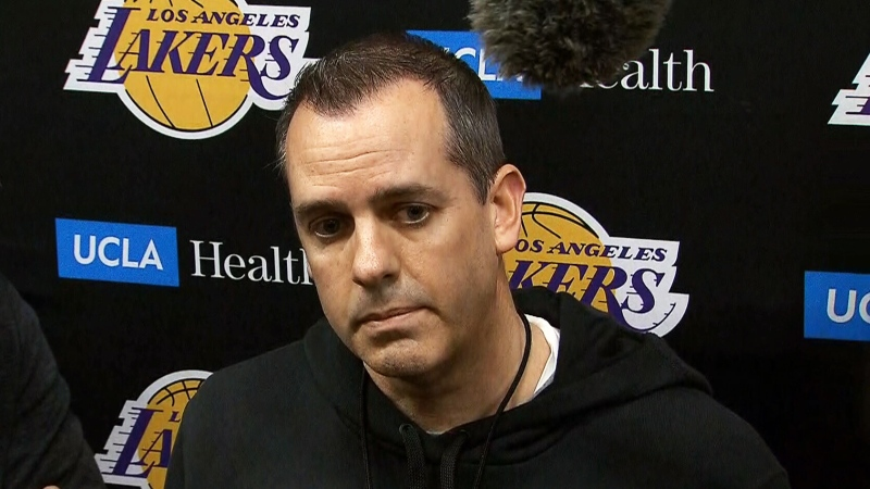 Coach of the L.A. Lakers Frank Vogel