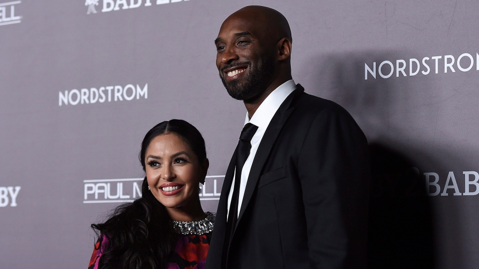 Vanessa Laine Bryant, left, and Kobe Bryant arrive at the 2019 Baby2Baby Gala on Saturday, Nov. 9, 2019, in Culver City, Calif. (Photo by Jordan Strauss/Invision/AP)