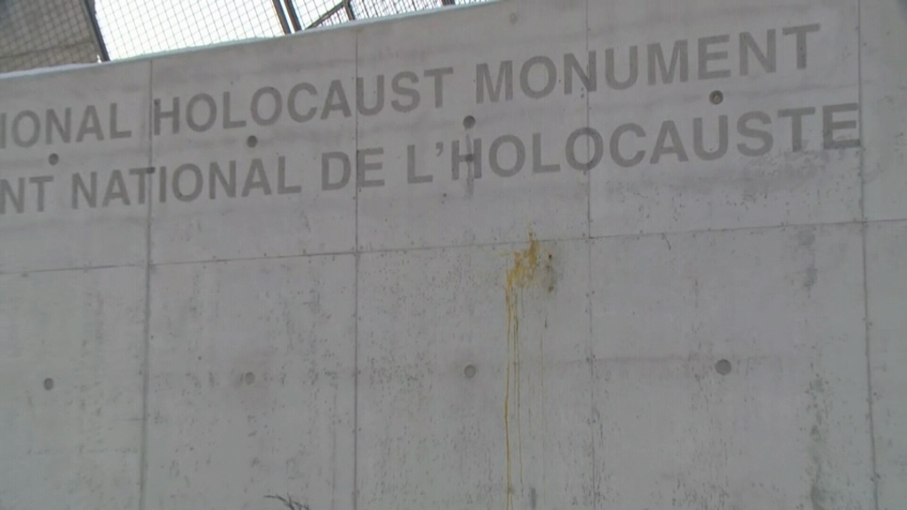 National Holocaust Monument defaced