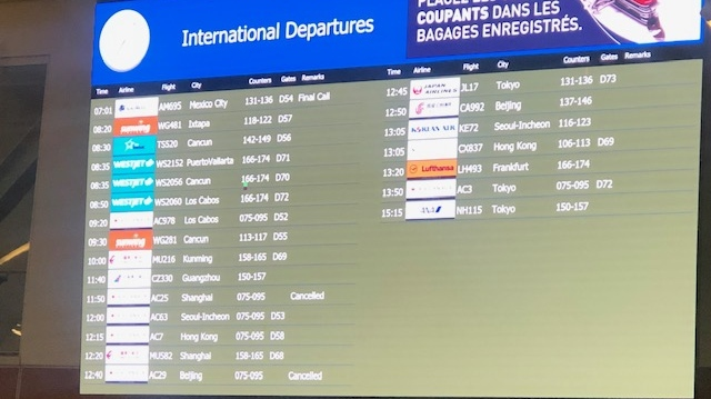 Coronavirus concerns lead to cancelled flights, increased cleaning at YVR