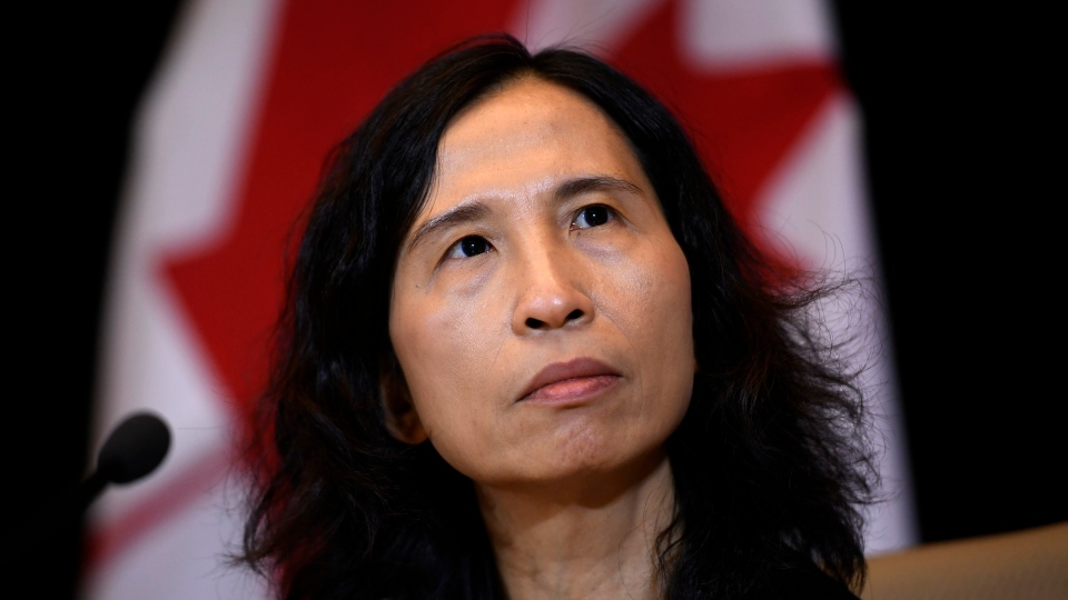 Chief Public Health Officer of Canada Theresa Tam participates in a press conference following the announcement of the first presumptive confirmed case of a novel coronavirus in Canada, in Ottawa, on Sunday, Jan. 26, 2020. (THE CANADIAN PRESS / Justin Tang)