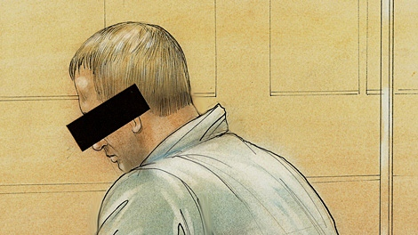 A sketch of D.B. in court on Wednesday, Sept. 16, 2009.