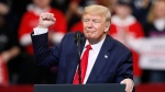U.S. President Donald Trump speaks during a campaign rally at Drake University, Thursday, Jan. 30, 2020, in Des Moines, Iowa. (AP Photo/Charlie Neibergall)