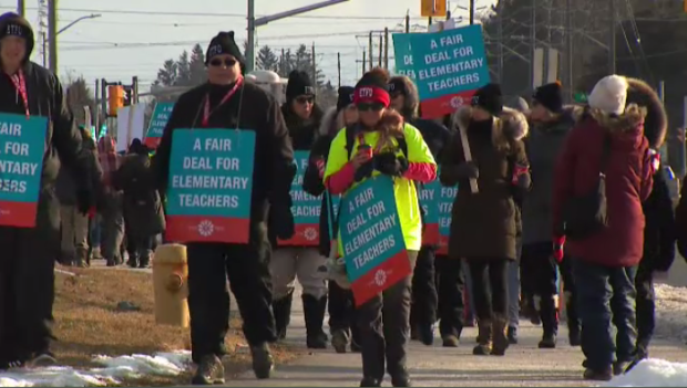 What are the key issues in the Ontario teachers' disputes with the province?