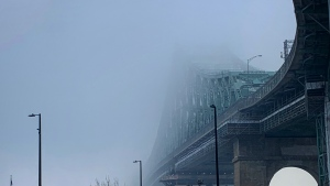 A smog warning is in effect in Montreal Jan. 31, 2020.