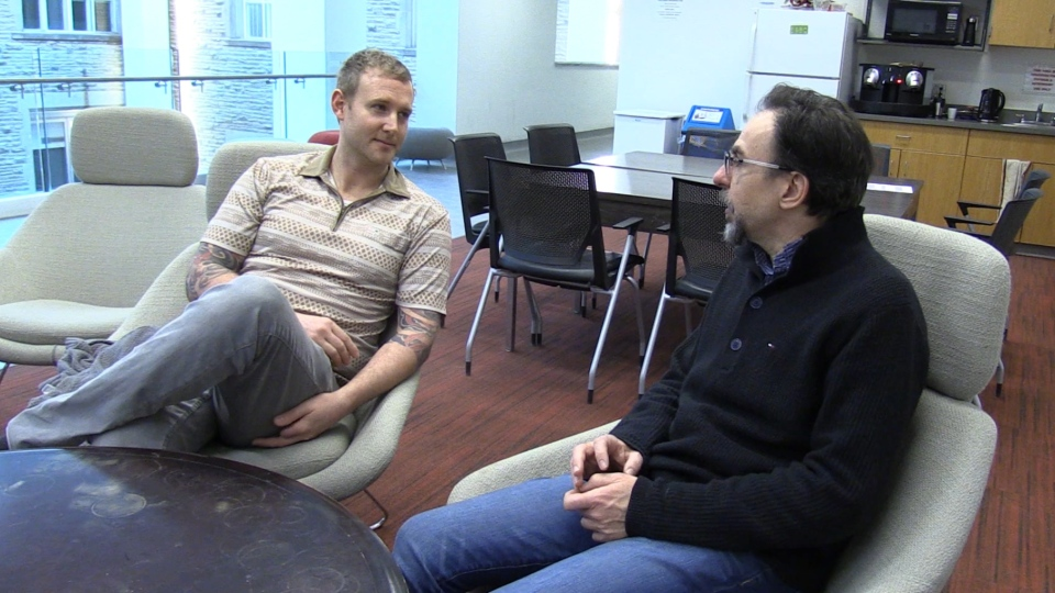 Paramedic Adam Tapp and Dr. Andrea Soddu